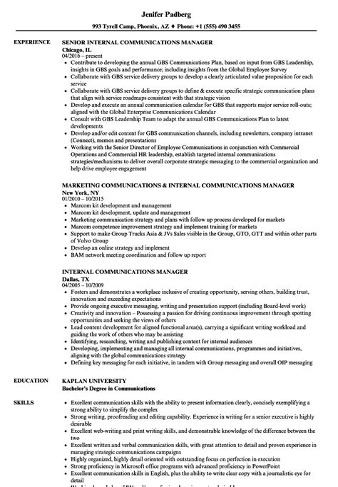 Resume Exles Communications Manager generous communications resume ideas resume ideas namanasa