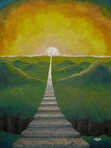 Steps To Heaven steps to heaven painting by chip williams