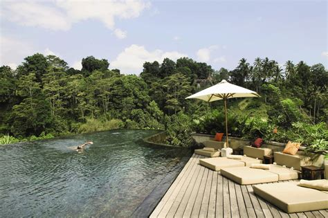 infinity pools bali hanging infinity pools in bali at ubud hotel resort architecture design