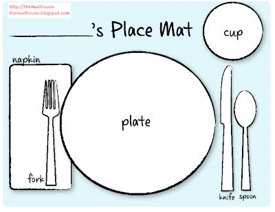 printable placemat themadhouse printable placement