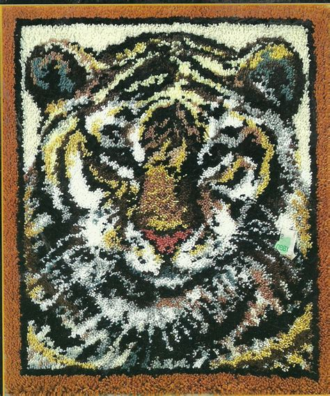 Rug Hook Patterns by Latch Hook Pattern Tiger 30 Quot X 36 Quot
