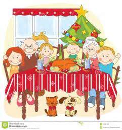 family christmas dinner clipart clipart suggest