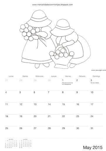 calendario para colorear calendario 2015 para colorear ni 241 os de