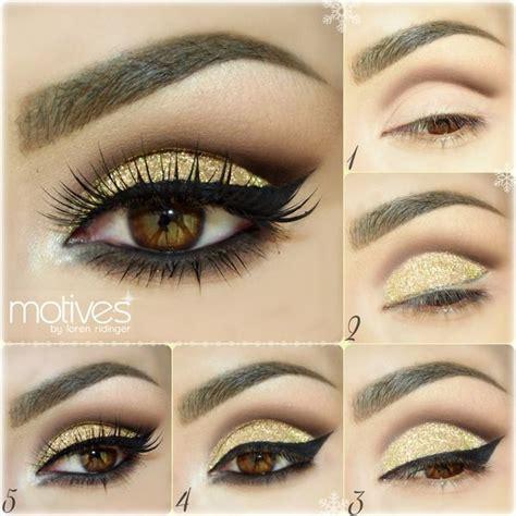 eyeshadow tutorial dramatic gold glitter eyeshadow makeup tutorial gorgeous