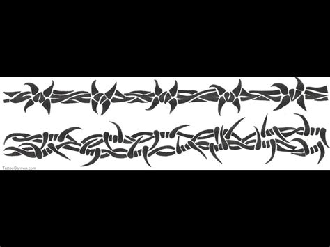 wire tattoo designs grey ink barbed wire armband design