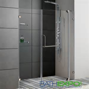 clear glass shower doors vigo 60 inch frameless shower door 3 8 quot clear glass