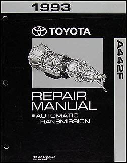 car repair manuals online pdf 1993 toyota land cruiser windshield wipe control 1993 toyota land cruiser automatic transmission repair manual a442f shop rebuild ebay