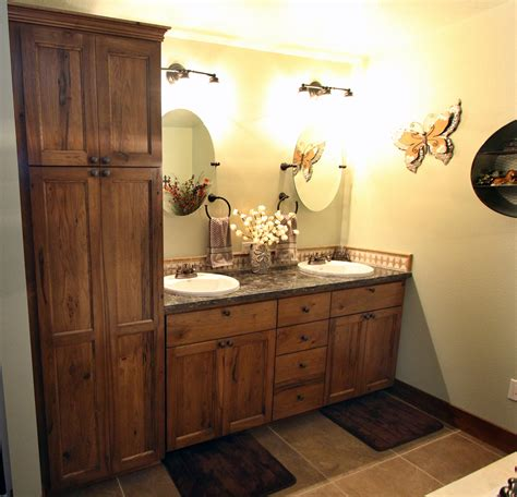 rustic hickory kitchen cabinets affordable custom cabinets showroom