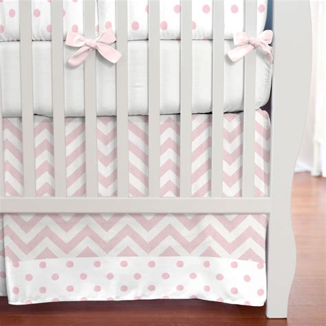 Pink And White Polka Dot Bedding Crib Bedding Pink Chevron Pink And White Bedding