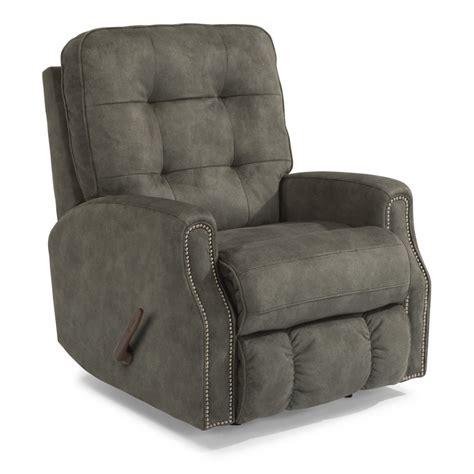 nailhead recliner flexsteel 2881 53 devon fabric swivel gliding recliner