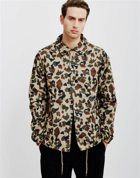 dickies torrance jacket duck camo in green for lyst