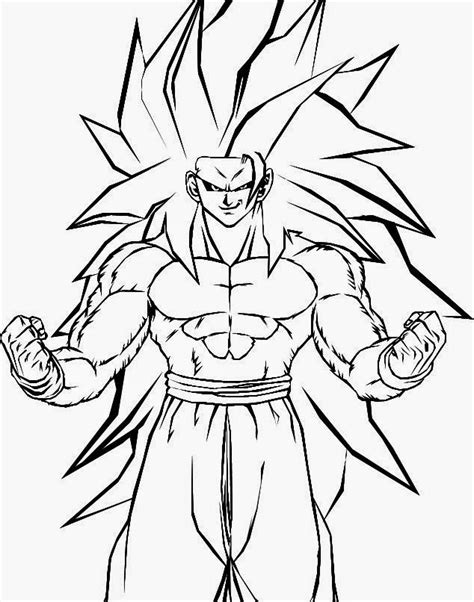 imagenes de goku kakaroto dibujo de kakaroto son goku fase 3 con el pelo largo para