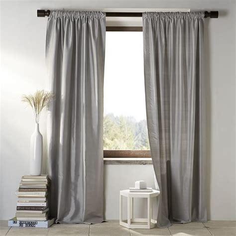 pewter silk curtains silk curtain pewter west elm