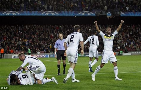 barcelona 2 2 chelsea highlights goals video 2nd leg 2012 barcelona 2 chelsea 2 agg 2 3 brave blues fight way to