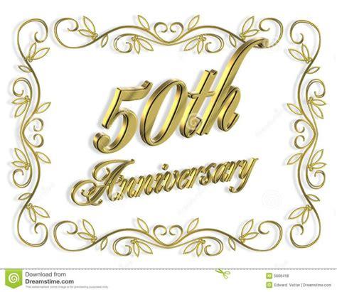 50th Wedding Anniversary Invitation 3d Stock Image Image Happy 50th Anniversary Clip