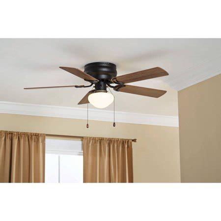 walmart ceiling fans with lights 42 quot mainstays hugger fan with globe bronze walmart com