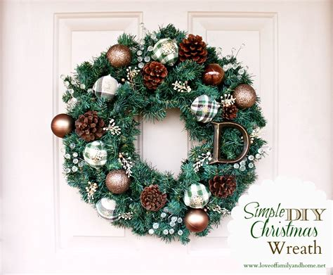 wreaths diy simple diy christmas wreath tutorial love of family home