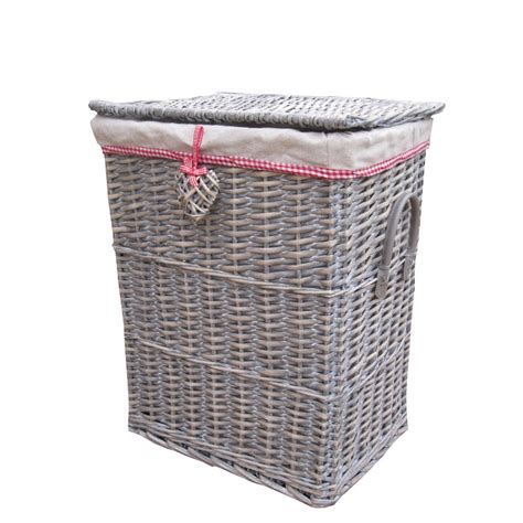laundry basket buy grey wicker laundry basket with wicker heart the