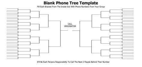 5 Free Phone Tree Templates Word Excel Pdf Formats Printable Phone Tree Template