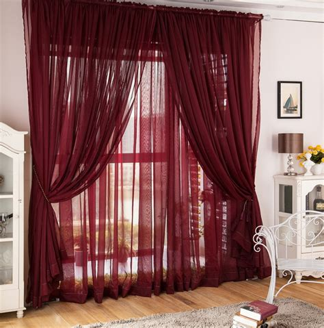 flowy curtains maroon curtains for living room home design