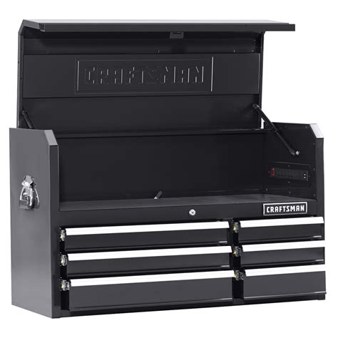craftsman 41 6 drawer soft close rolling tool cabinet black craftsman 41 quot 6 drawer soft close top chest black shop