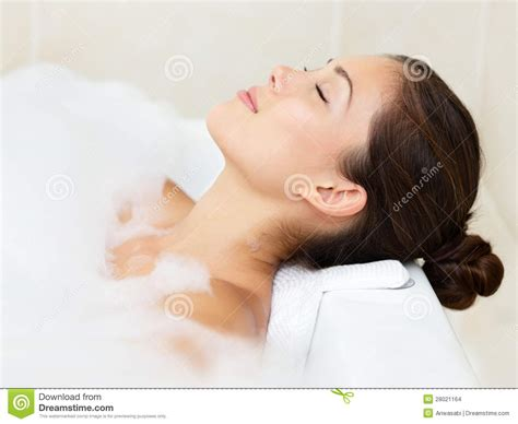 bathing in bathtub bath woman relaxing bathing stock images image 28021164