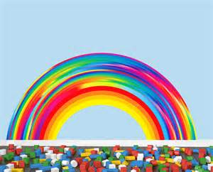 Large Rainbow Wall Stickers reusable rainbow wall decal extra large