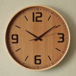 Wood Clock Wood Wall Clock Modern Wall Clocks By West Elm
