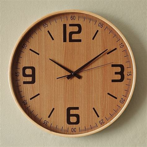 wooden clocks wood wall clock modern wall clocks by west elm