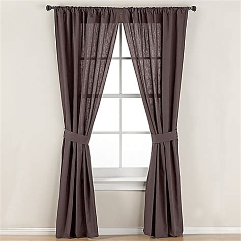 63 window curtains buy smoothweave 63 inch tailored rod pocket window