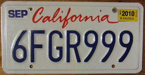 Car Number Plate Address Finder California License Registration Title