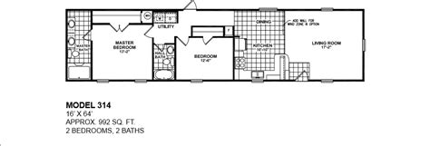 Oak Creek Homes Floor Plans Model 314 16x64 2bedroom 2bath Oak Creek Mobile Home