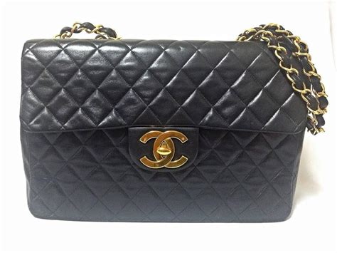 Tisdale And Chanel Jumbo Flap Handbag by Vintage Chanel Black Large Jumbo Classic