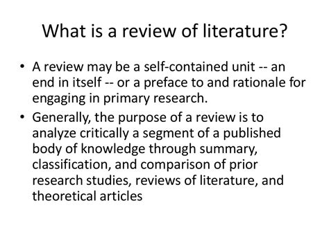 exle of review of related literature in a research paper the review of related literature