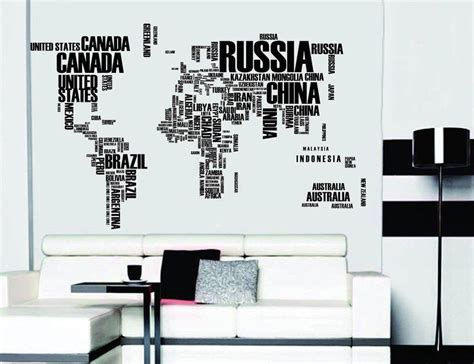 wall stickers world world map wall stickers 187 gadget flow