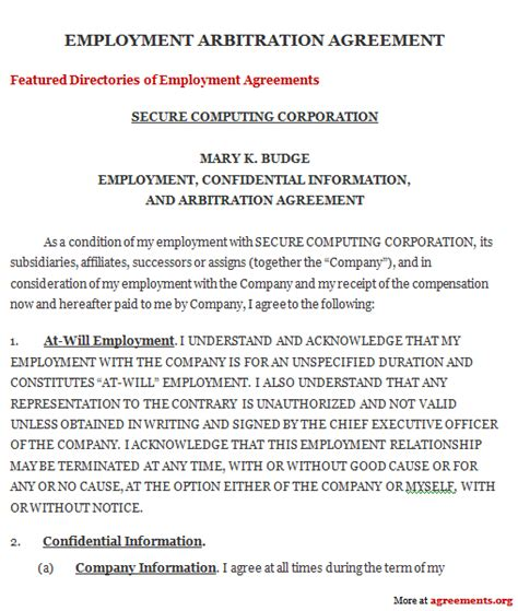 arbitration agreement sle arbitration agreement