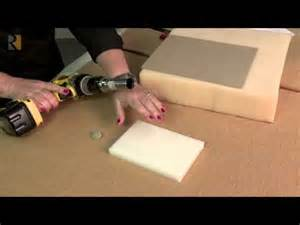 Upholstery Tufting Foam Hole Cutter For Upholstery Youtube