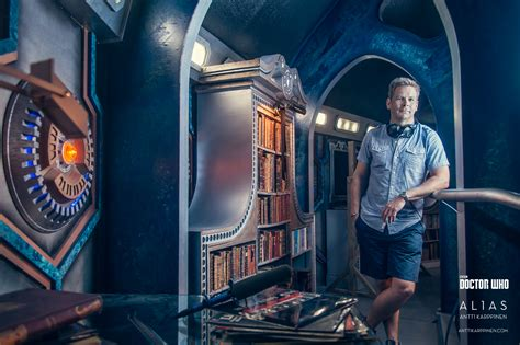 doctor who doctor who photoshoot inside tardis antti karppinen