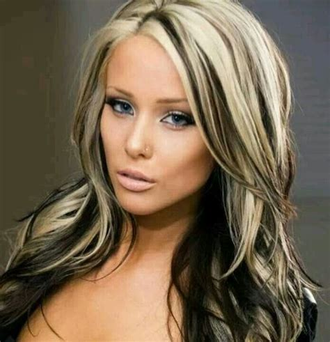 hairstyles with blonde and dark underneath long dark black hair with blonde highlights blonde dark