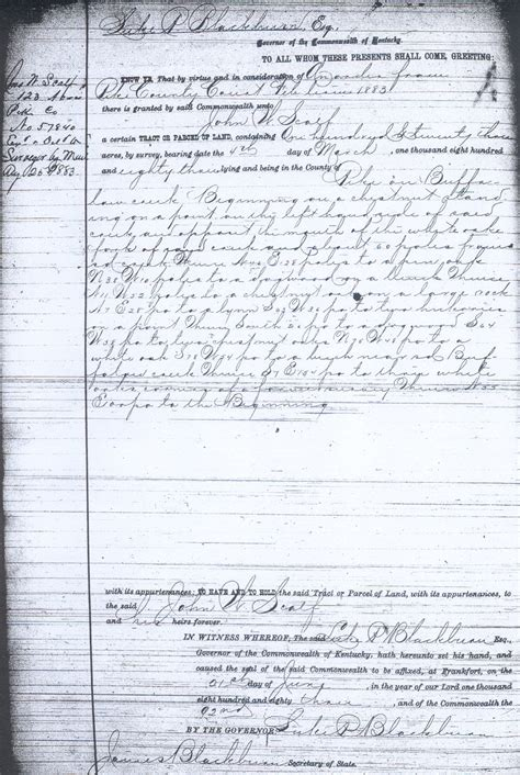 Grant County Ky Court Records Scalf Land Grants Purchase Records