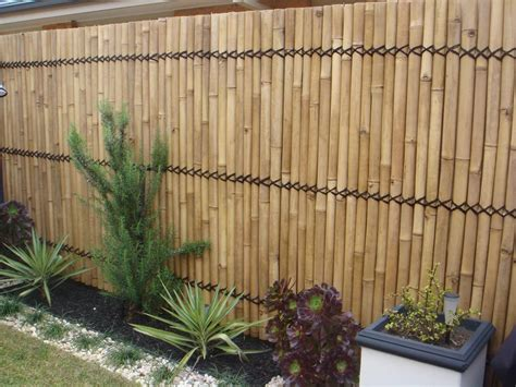 Garden Fence Screening Ideas Bamboo Fence Fencing Bamboo Screen 2 4m X 1m Lacquer Heavy Duty Rope Bamboo Fence