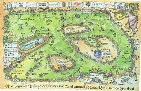 texas renaissance festival map map of the texas renaissance festival