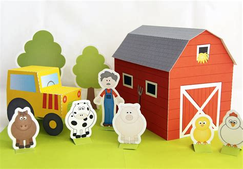 craft for pdf printable farm pdf paper craft