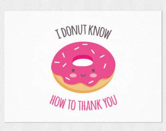free thank you card templates donut donut card etsy