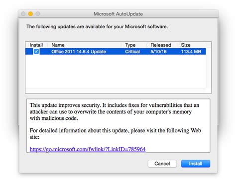 microsoft security bulletin ms16 121 critical microsoft fixes security bugs with office for mac 2011 14