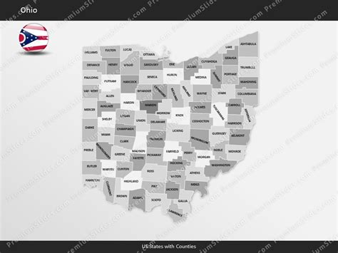 state ohio county map template  microsoft powerpoint