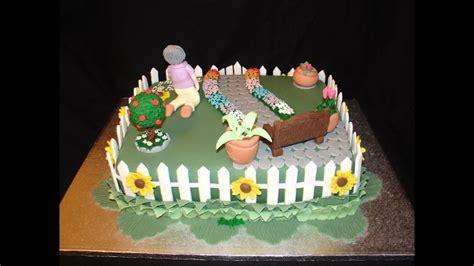 garden themed cake ideas garden theme 80th birthday fondant cake
