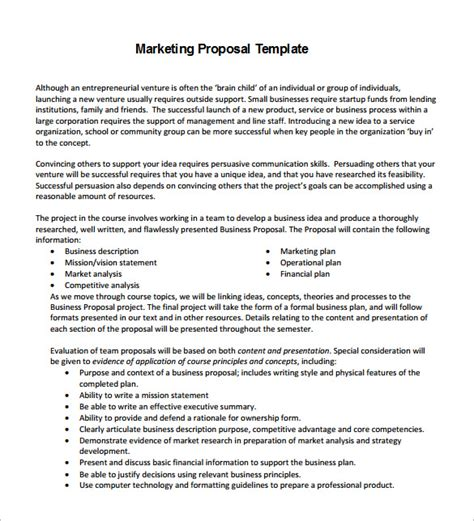 proposal templates 140 free word pdf format download