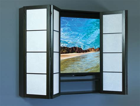 Flat Screen Tv Wall Cabinets With Doors Tv Wall Cabinet With Doors Newsonair Org