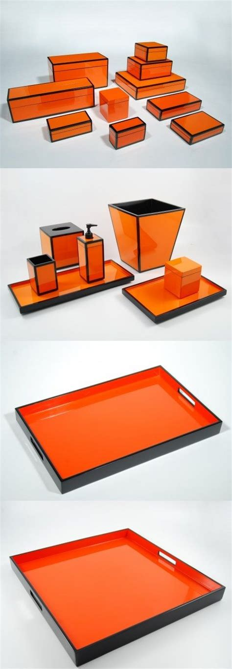 beautiful lacquered home accessories inspired by tory best 25 orange bathrooms designs ideas on pinterest
